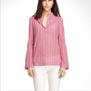 Tory BurchLong Sleeve Pink Stephanie Tunic Top XS